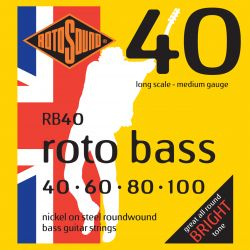 ROTOSOUND RB40 NICKEL (UNSILKED) 40 60 80 100