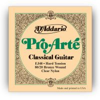 D`ADDARIO EJ48 80/20 BRONZE PRO-ARTE NYLON HARD TENSION