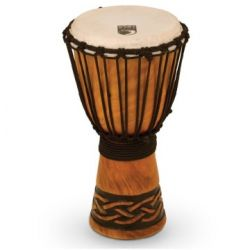 TOCA TODJ-8CK Origins Series Wood Rope Tuned Wood Djembe Celtic Knot Small