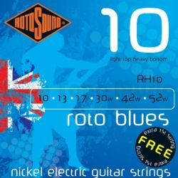 ROTOSOUND RH10 STRINGS NICKEL LIGHT TOP/HEAVY BOTTOM