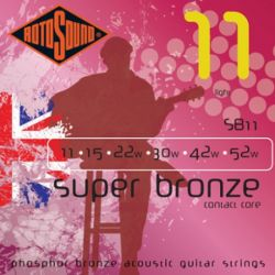 ROTOSOUND SB11 STRINGS PHOSPHOR BRONZE
