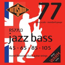 ROTOSOUND RS77LD JAZZ BASS FLATWOUND STRINGS MONEL