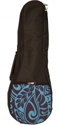 KALA UB-BL-T KALA TENOR PADDED UKULELE BAG, BLUE PATTERN