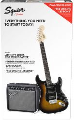 FENDER SQUIER Squier Affinity Series™ Stratocaster® HSS Pack, Laurel Fingerboard,...
