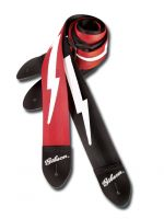 GIBSON ASGSBL-10 LIGHTNING BOLT STYLE 2` SAFETY STRAP - JET BLACK