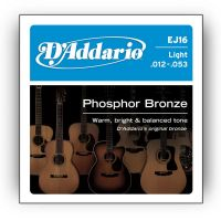 D`ADDARIO EJ16 PHOSPHOR BRONZE LIGHT 12-53