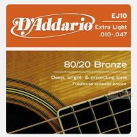 D`ADDARIO EJ10 80/20 BRONZE EXTRA LIGHT 10-47