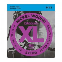 D`ADDARIO EXL120 NICKEL WOUND SUPER LIGHT 9-42